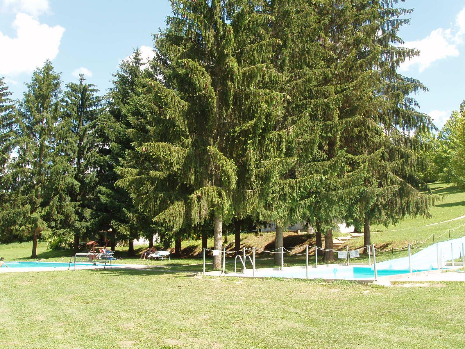 Castiglione medence és óriás csúszda