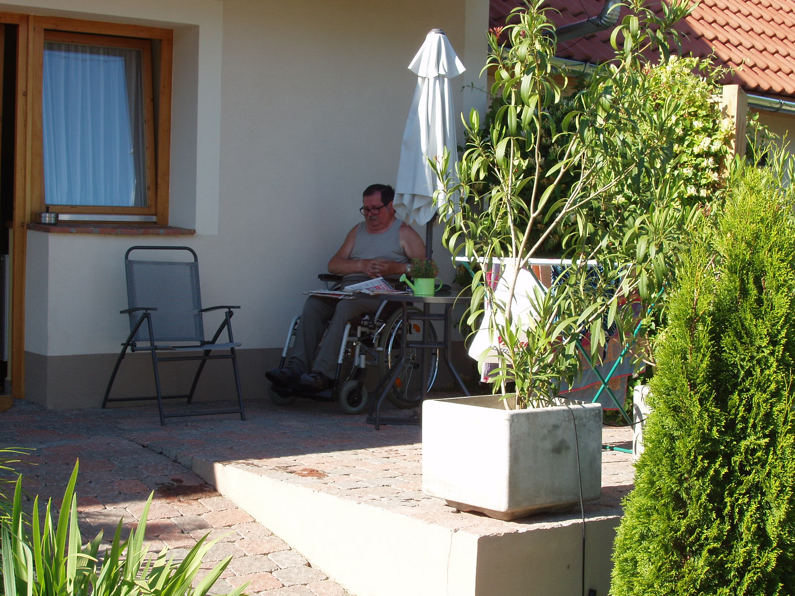 Stúdió apartman nyári kert